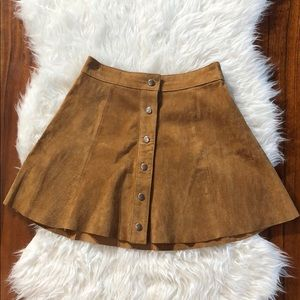 Forever 21 Faux Suede A-Line Skirt High Waisted